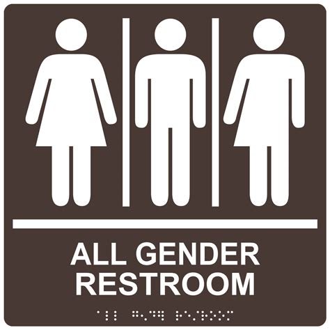gender inclusive bathroom sign pin nfpa 704 on