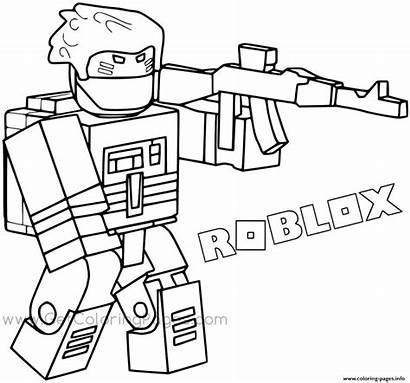 Coloring Roblox Pages Printable Sld2 Bandit Backpac