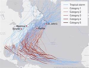 Hurricane Data Chart There Are The Paths Of 163 Hurricanes That Have Passed