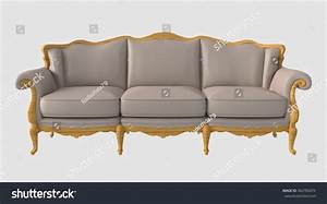 3d Illustration Sofa Stock Illustration 402782074 ...