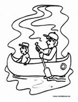 Canoe Coloring Kayak Pages Canoeing Canoekayak Colormegood Sports sketch template