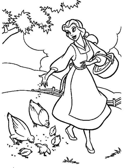 images  beauty   beast coloring pages