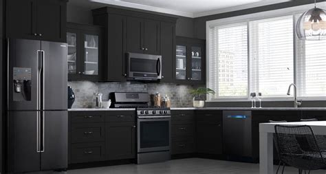 tips  matching cabinets  black stainless steel