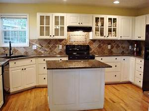 Tropical Brown Granite Countertops with White Cabinet in ...