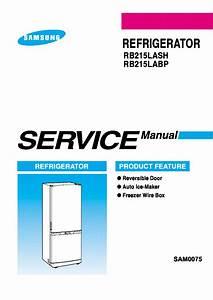Samsung Rb215lash Rb215labp Refrigerator 2005 Sm Pdf