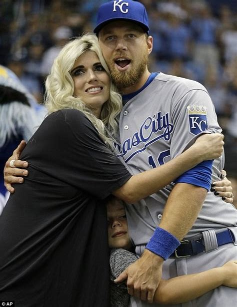zobrist ben wife julianna married series royals kansas dailymail she split being years he before together tells during team caption