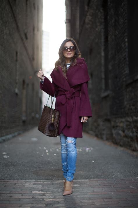 burgundy robe coat mia mia