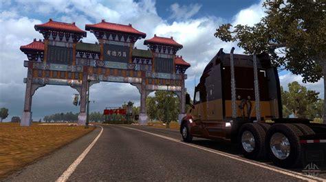 map  china  american truck simulator