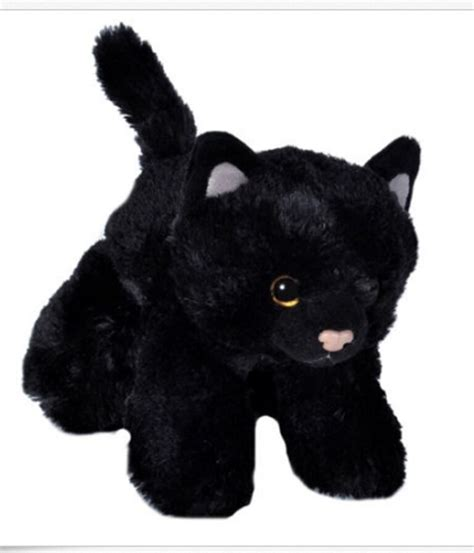 hug ems black cat plush stuffed animal  wild