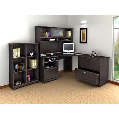 corner desk with bookshelf bush cabot 60 quot corner computer desk hutch lateral file
