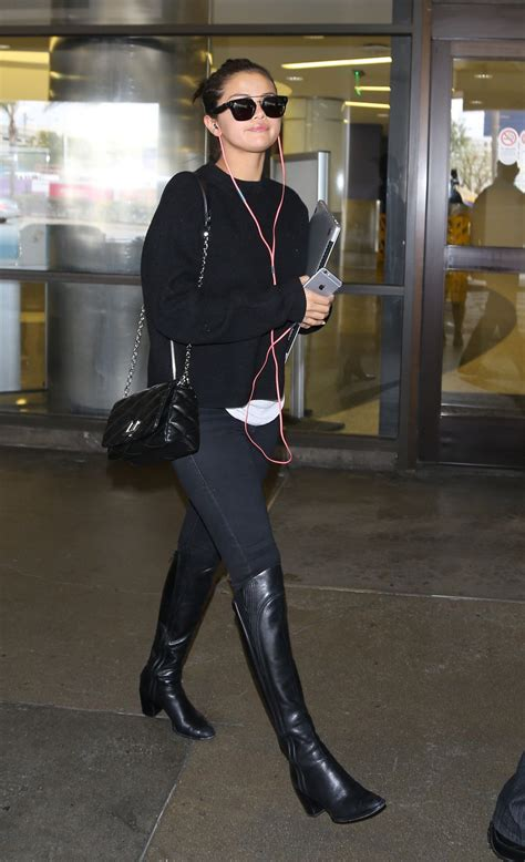 Style 2015 Frühling by Selena Gomez Style Lax Airport May 2015