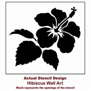 Hibiscus Flower Stencil - Floral stencil designs - Flower