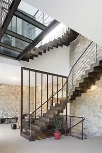 Escalier Métallique Industriel : escalier m tallique r novation d 39 un espace de vie dans le style industriel tout en gardant l ~ Melissatoandfro.com Idées de Décoration