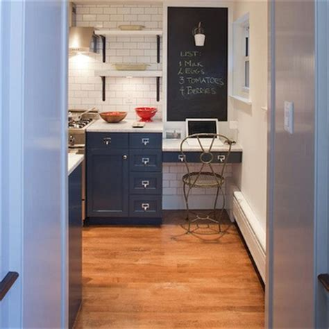 Blue Kitchen Cabinets   Contemporary   kitchen   Farrow