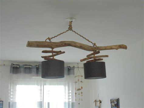 lustre plafonnier en bois flott 233 cr 233 ation unique suspension led luminaires par un