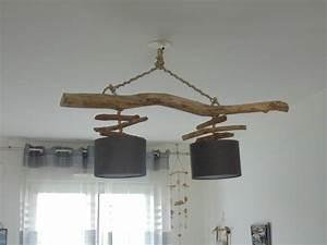 Plafonnier En Bois : lampe plafond bois plafonnier inox bross saloniletaitunefois ~ Teatrodelosmanantiales.com Idées de Décoration