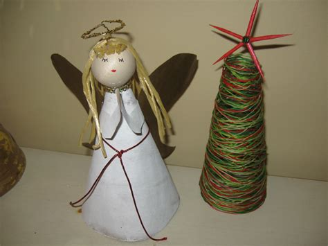 craft klatch 174 angel christmas tree topper recycled materials