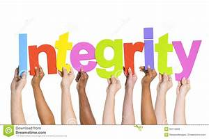 Multi-Ethnic Hands Holding The Word Integrity Stock Photo ...