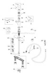 moen kitchen faucet parts breakdown delta faucet 470 we dst parts list and diagram