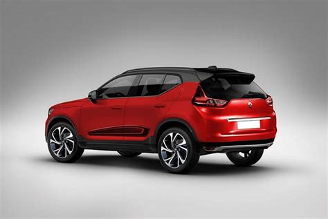 renault kwid based compact suv rendered  stylish manner