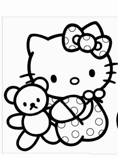 Kitty Hello Coloring Printable Colouring Drawing Colorear