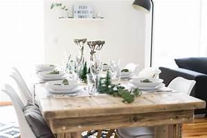 Tipps Für Tischdeko : minimalistische tischdeko f r weihnachten ~ Frokenaadalensverden.com Haus und Dekorationen