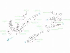 Subaru Legacy Exhaust Pipe Connector Gasket  Muffler