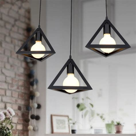 personality retro edison loft pendant l indoor dining room creative triangle hanging lighting