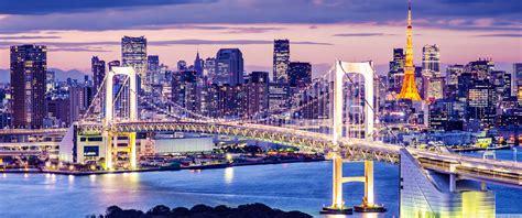 Rainbow Bridge, Tokyo, Japan 4k Hd Desktop Wallpaper For