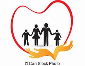 Family protected by hands logo. Family protected by hands ...