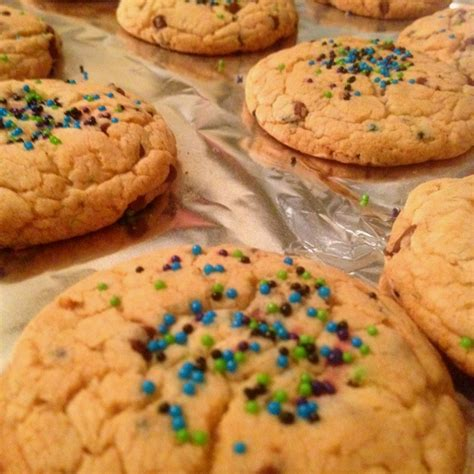 I found it on the duncan hines dark chocolate fudge cake mix about 6 years ago. Completed cake mix cookies! 2 eggs, 1 box any Duncan Hines ...