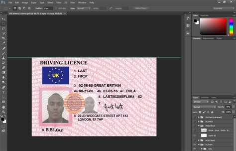 uk drivers license psd template templates psd templates