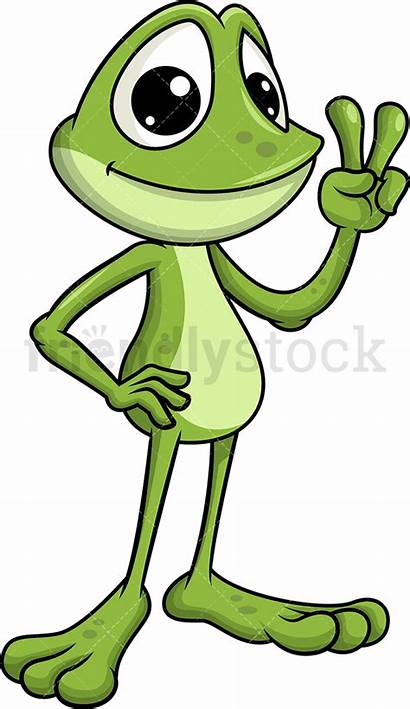Frog Clipart Cartoon Frogs Vector Hand Webstockreview