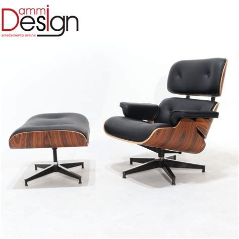 poltrona lounge poltrona lounge chair con pouff in palissandro e vera pelle