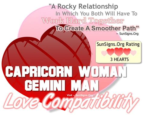 capricorn woman and gemini man a rocky relationship