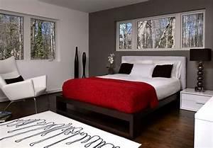 photo deco chambre adulte ton gris deco maison moderne With deco chambre gris et blanc