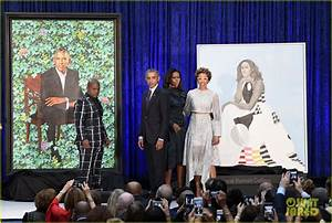 Barack Michelle Obama Unveil Their Official Portraits At