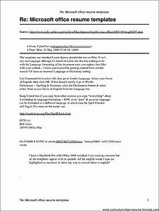 microsoft office resume templates for mac free samples With macbook resume template free