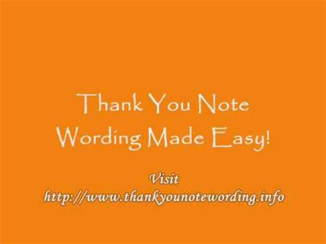 thank you note wording made easy