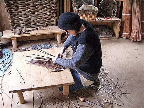 kelly wilson working   studio willow weaving craft