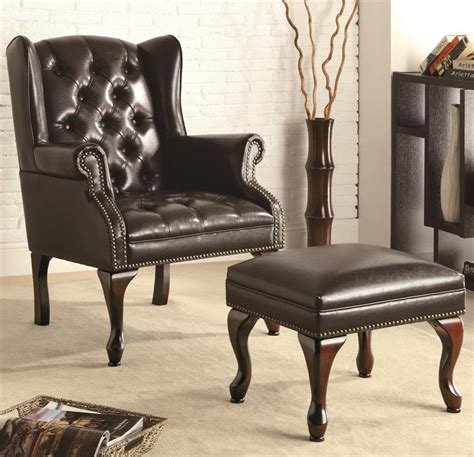 accent chair tufted black