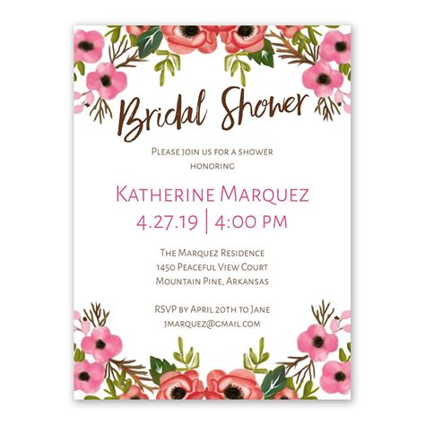 home design essentials blooming bridal shower invitation 39 s bridal