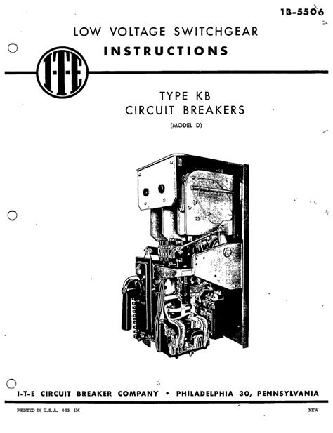 1b 5506 type kb circuit breakers d manual i t e