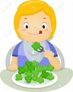 child eating vegetables clipart - Clipground