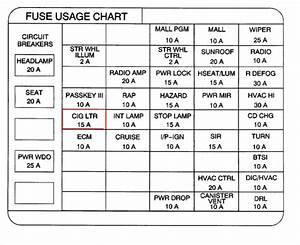 00 Pontiac Grand Prix Fuse Diagram Cigarette Lighter