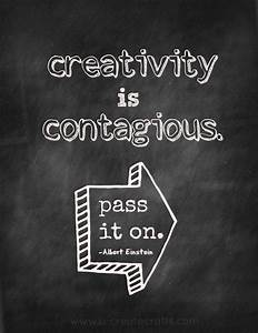 Inspirational Chalk Board Quotes - U Create
