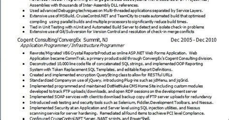 applications programmer sample resume format  word