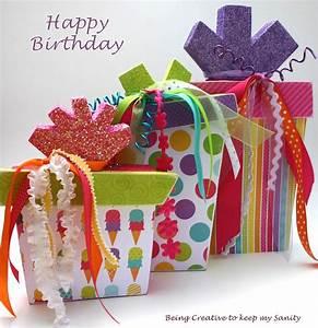 Being creative to keep my sanity: Birthday Present Decor
