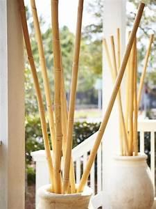 Bambus Pflanzen Kübel : ideen f r bambusstangen deko k bel stein veranda diy dekoration pinterest bambus deko und ~ Frokenaadalensverden.com Haus und Dekorationen