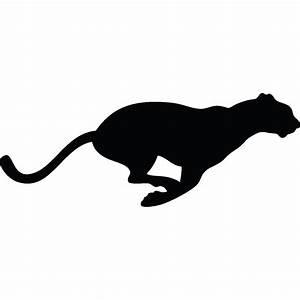 Stickers muraux Animaux Sticker Silhouette léopard Ambiance sticker